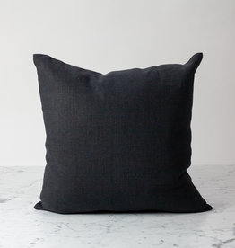 Libeco Home Vancouver Organic Linen Pillow Cover with Insert - Button Closure - Arabica Grey - 20 x 20""