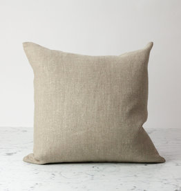 """Libeco Home Vancouver Organic Linen Pillow with Down Insert - Button Closure - Flax - 20 x 20"""""""
