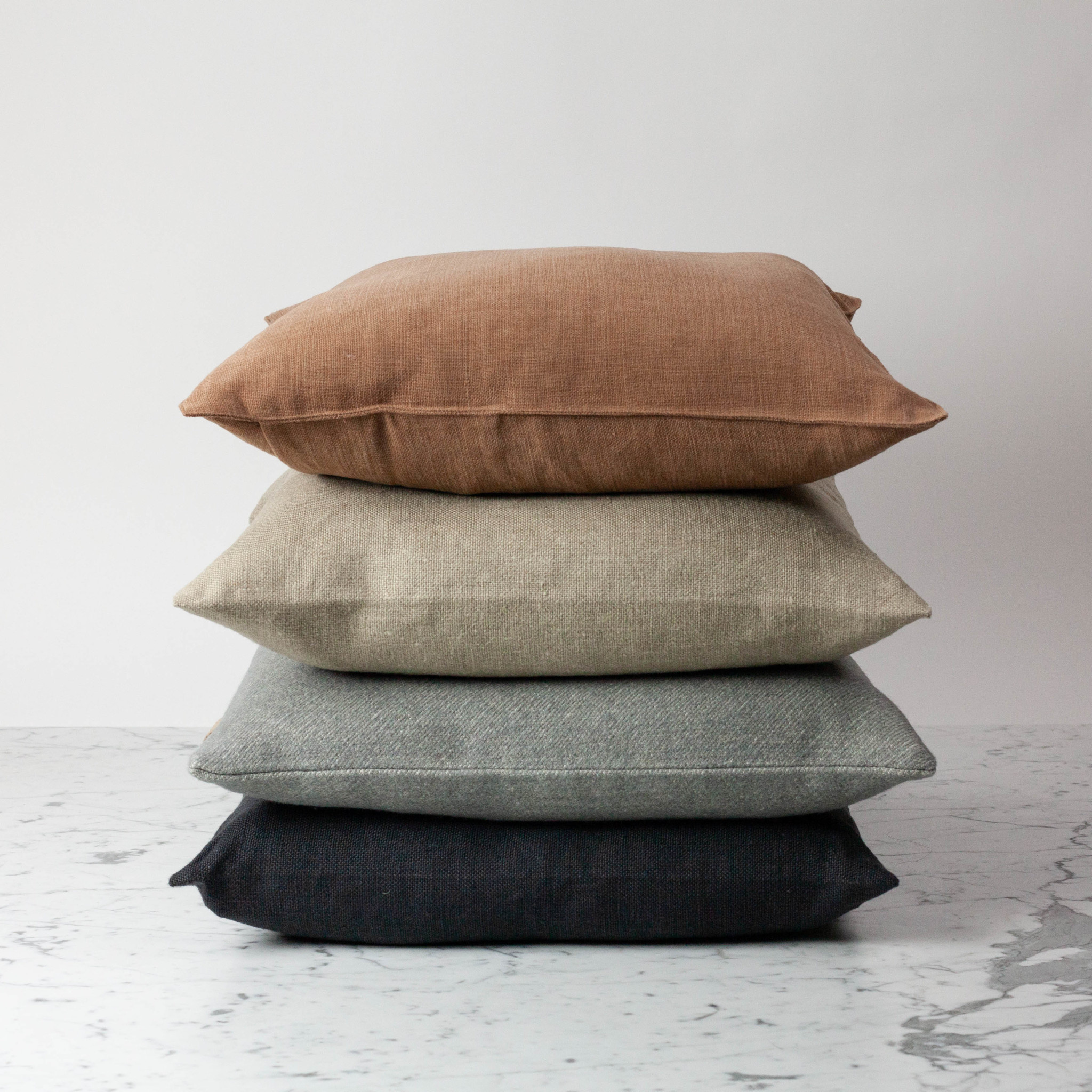 Libeco Home Vancouver Organic Linen Pillow with Down Insert - Button Closure - Flax - 20 x 20""