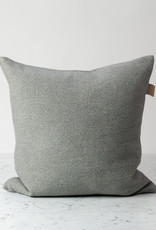 Libeco Home Shetland Linen + Wool Pillow with Down Insert - Grey - 20 x 20""