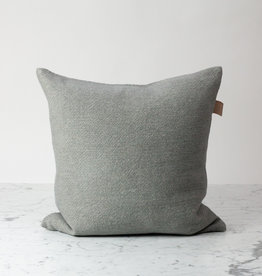 """Libeco Home Shetland Linen + Wool Pillow with Down Insert - Grey - 20 x 20"""""""