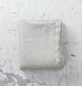 """Linen Duvet Cover - Queen - Pinstripe - 91"""" x 93"""""""