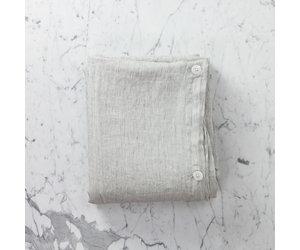 Linen Duvet Cover   King   Pinstripe   108 x 96