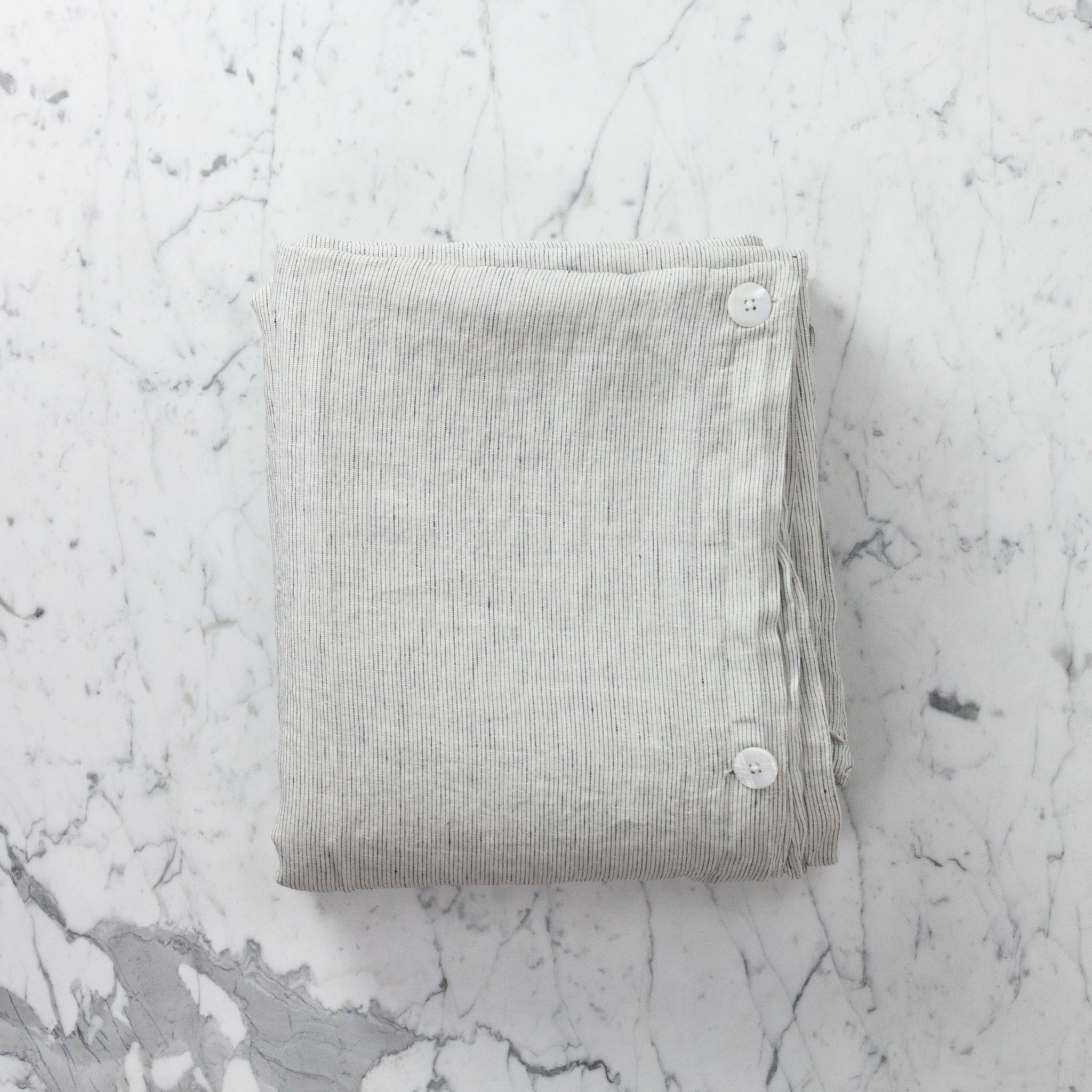 """Linen Duvet Cover - King - Pinstripe - 108 x 96"""""""