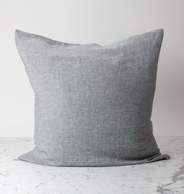 """Cultiver Ash Grey Chambray - 26"""" - Linen Dec Pillow COVER ONLY"""