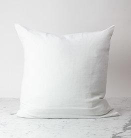 "White - 26"" - Linen Dec Pillow with Down Insert"