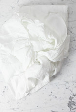 Linen Fitted Sheet - Queen - White