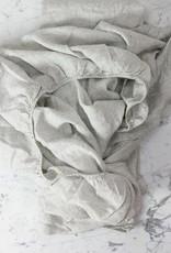 Linen Fitted Sheet - King - Pinstripe