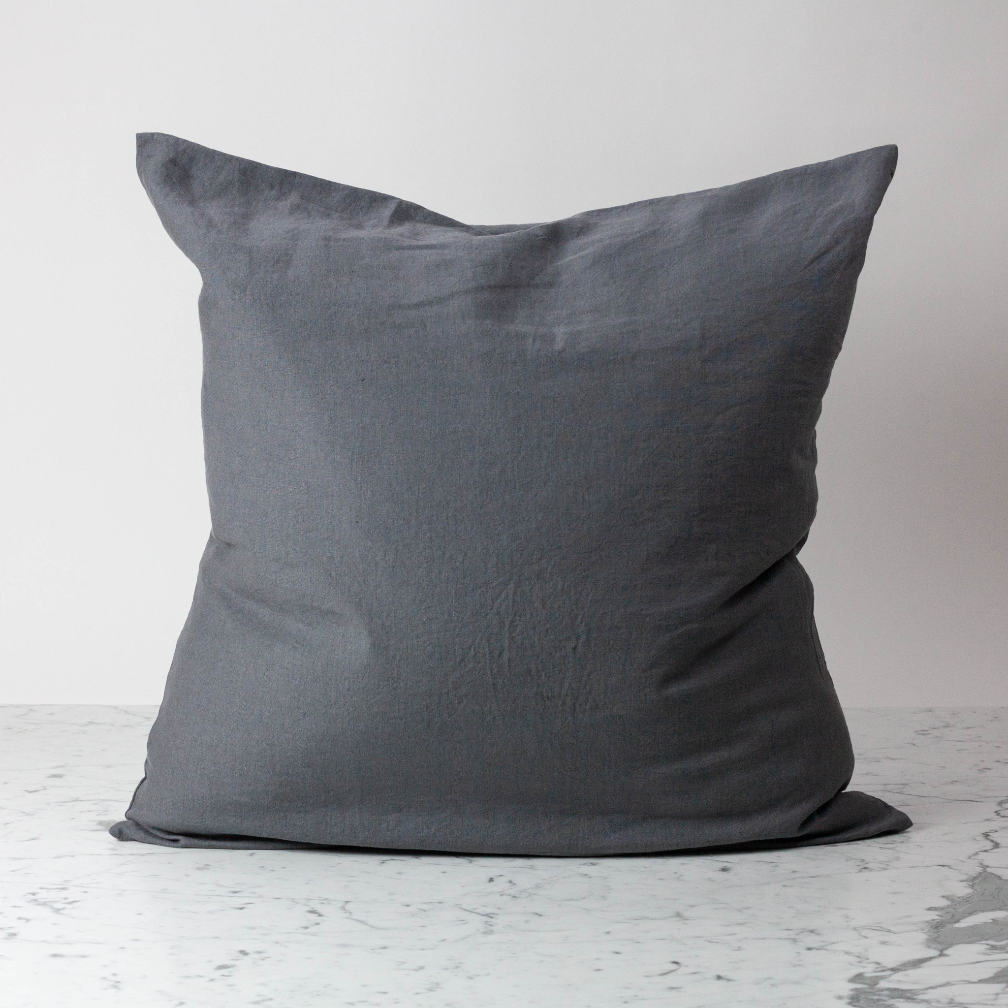 "Charcoal Grey - 26"" - Linen Dec Pillow with Down Insert"