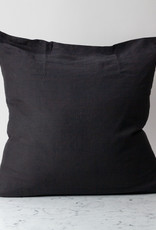 """Cultiver Earth Black - 26"""" - Linen Dec Pillow with Down Insert"""
