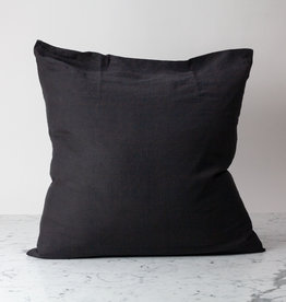 "Earth Black - 26"" - Linen Dec Pillow with Down Insert"