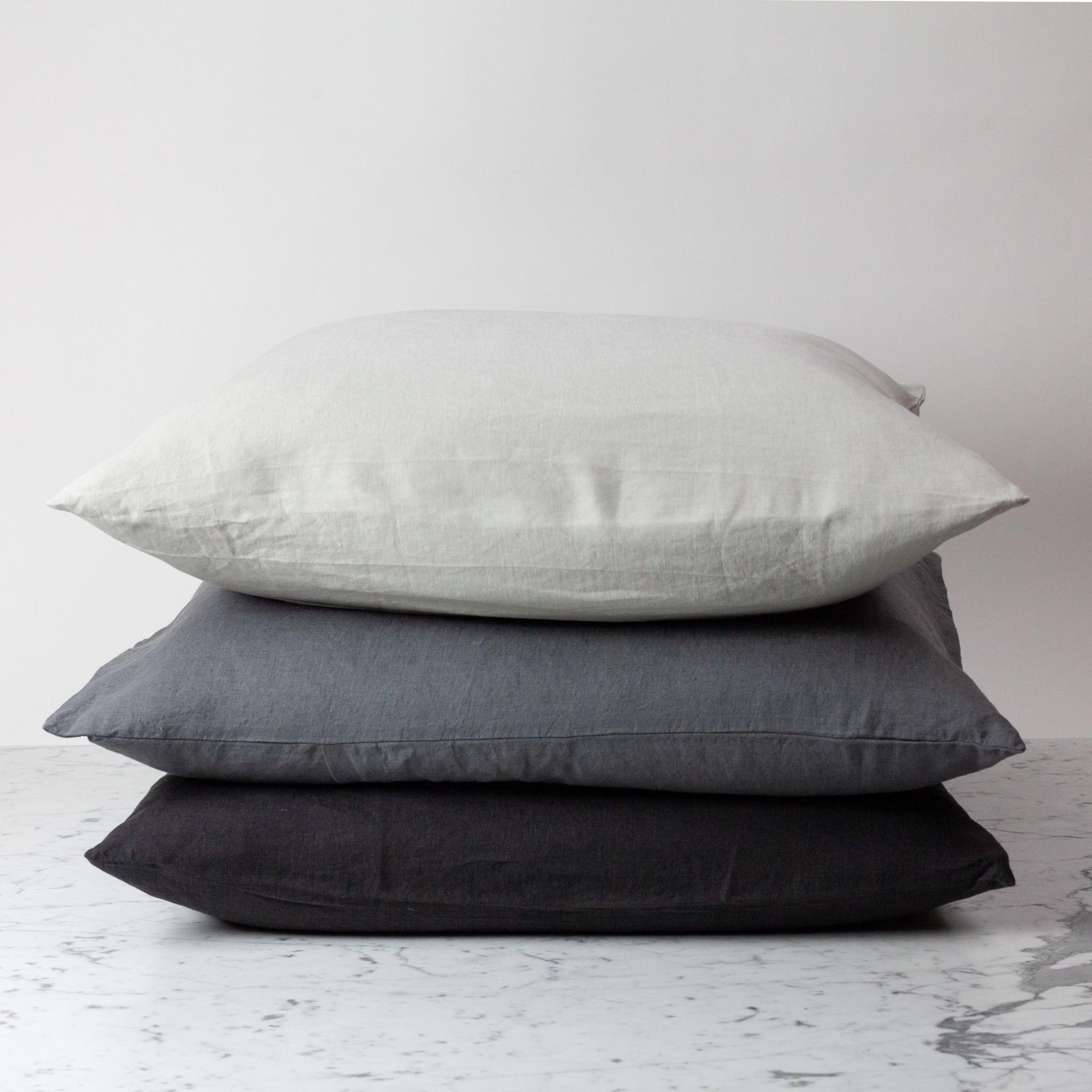 "Earth Black - 26"" - Linen Dec Pillow with Down Insert"