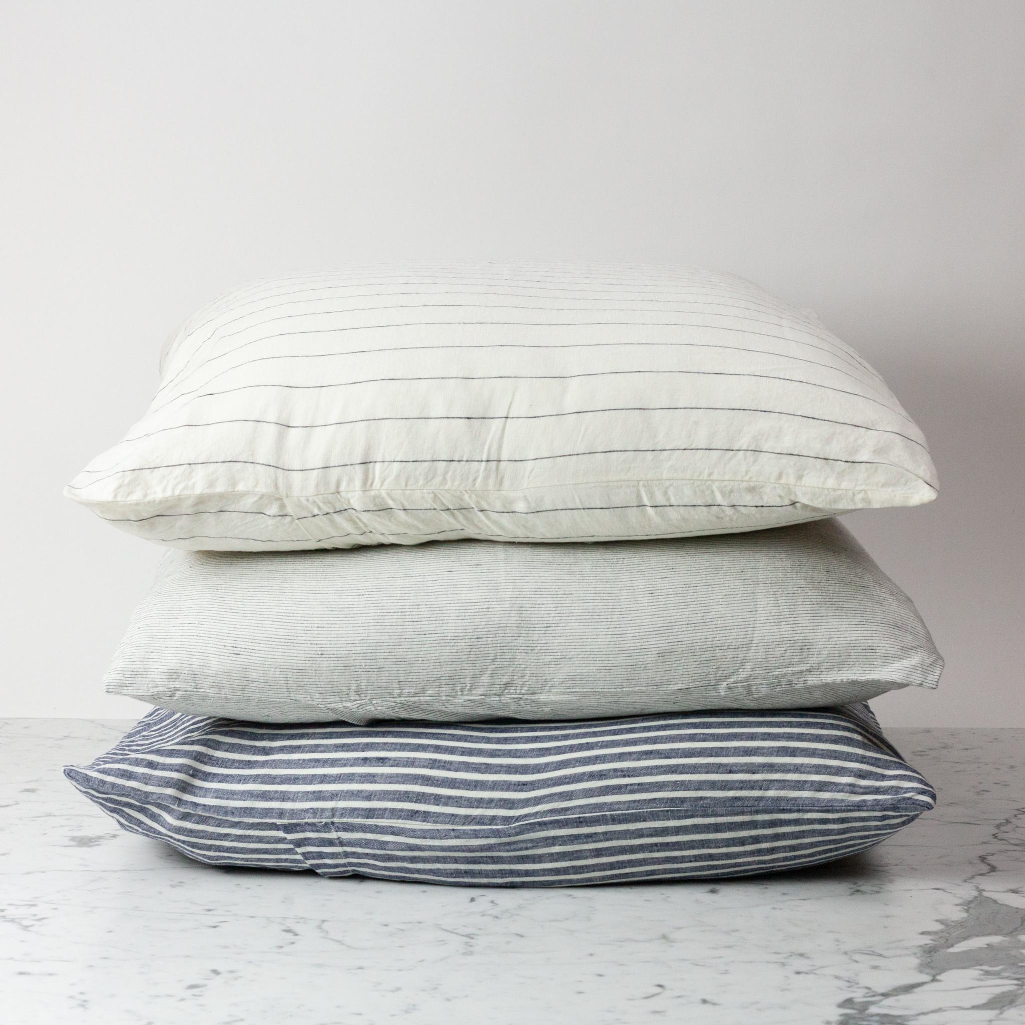 """Pinstripe - 26"""" - Linen Dec Pillow with Down Insert"""