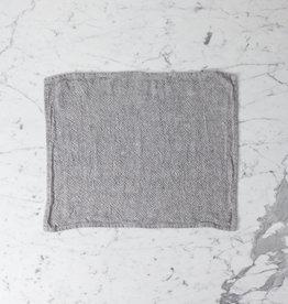 "Heavy French Linen Table Mat - Granite - 14 x 18"""