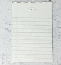 "Kartotek Simple Danish 2020 Wall Calendar - 11"" x 17"""