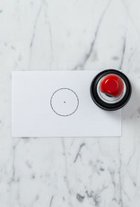 Rubber Ink Stamp - Circle - Blank Clock Face