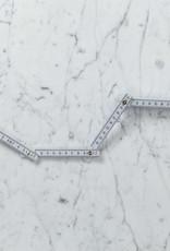Folding Meter Ruler - White