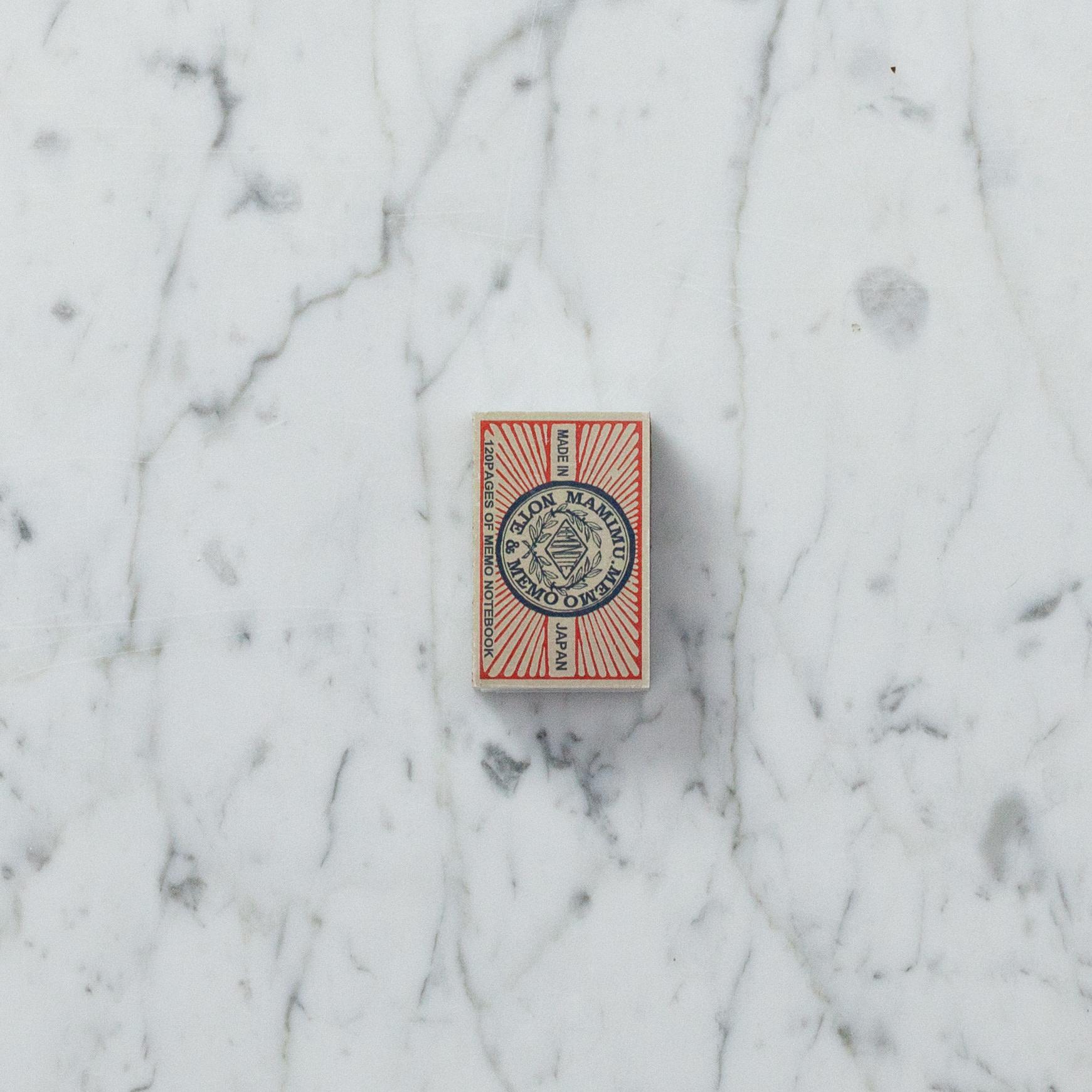 Teeny Tiny Matchbox Notebook - Red Rays