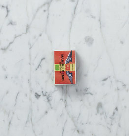 Teeny Tiny Matchbox Notebook - Wings + Red Stripes