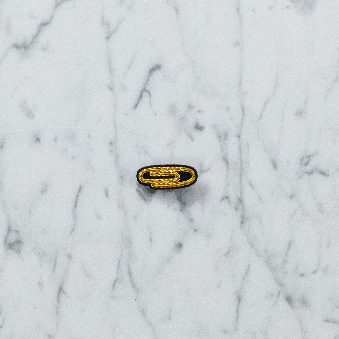 Hand Embroidered Macon & Lesquoy Pin - Paperclip