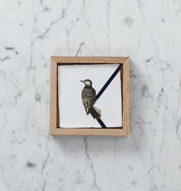 Dutch Hanging Storytile - Woodpecker - Framed