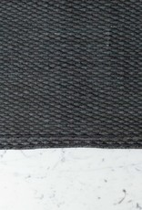 Handwoven Cotton Pelwe Rug - Solid Charcoal - Small - 4 x 6'