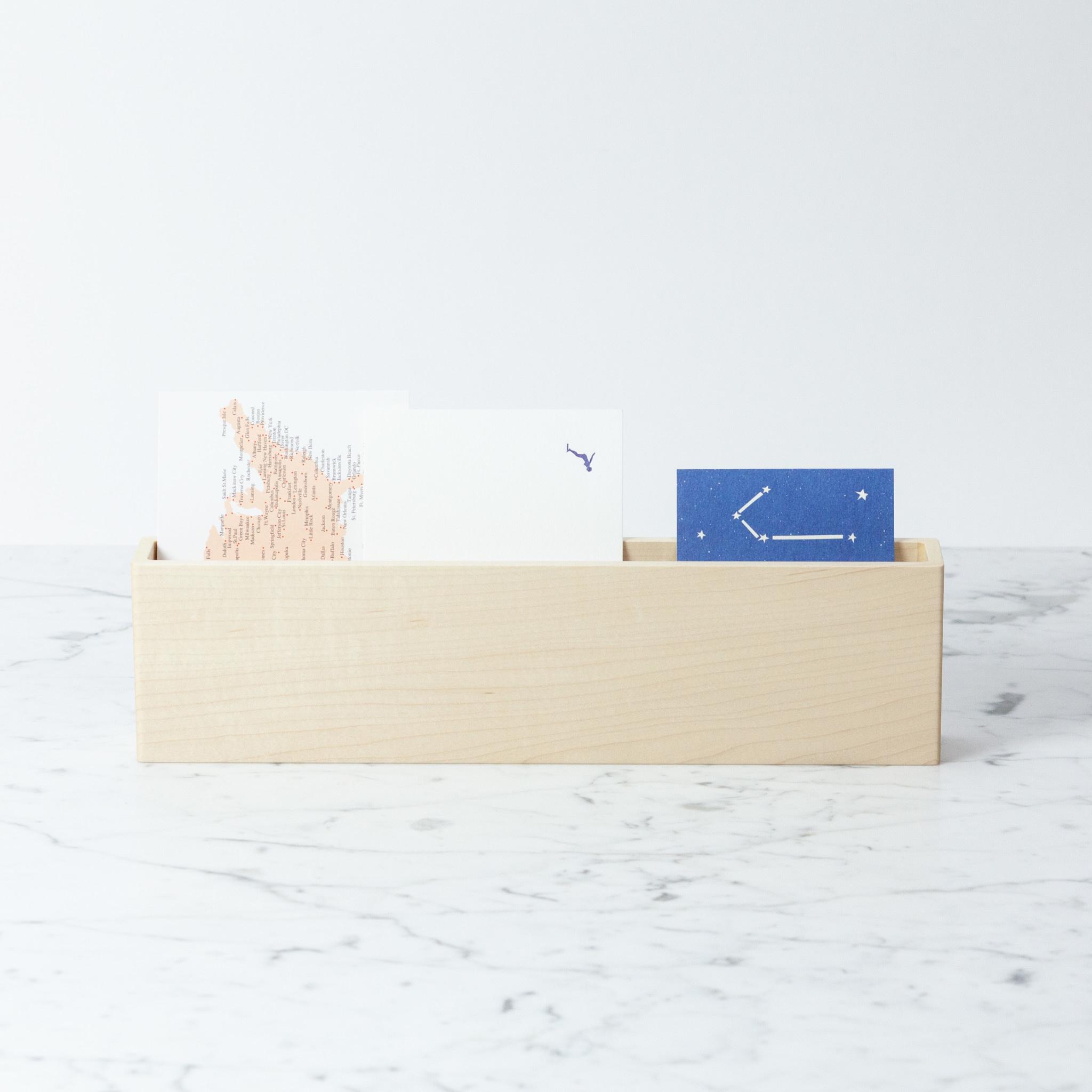 IFJ Holdings LTD Slim Japanese Maple Letter Rack