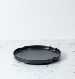 mizu-mizu Shallow Plate - Iron Black Glaze