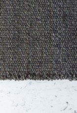 Elementos Argentinos Handwoven Sheep Wool Rug - Grey - 24 x 36""