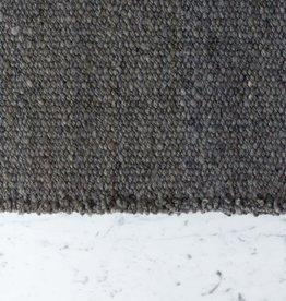 "Elementos Argentinos Handwoven Sheep Wool Rug - Grey - 24 x 36"""