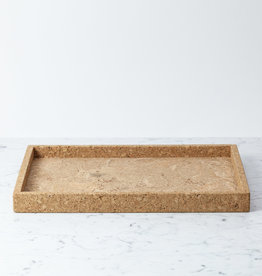Cork Ottoman Tray - Rectangle 13 x 19""