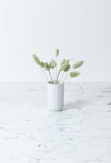 Lyngby Porcelain Lyngby Fluted Porcelain White Vase - 8 cm - Glossy White