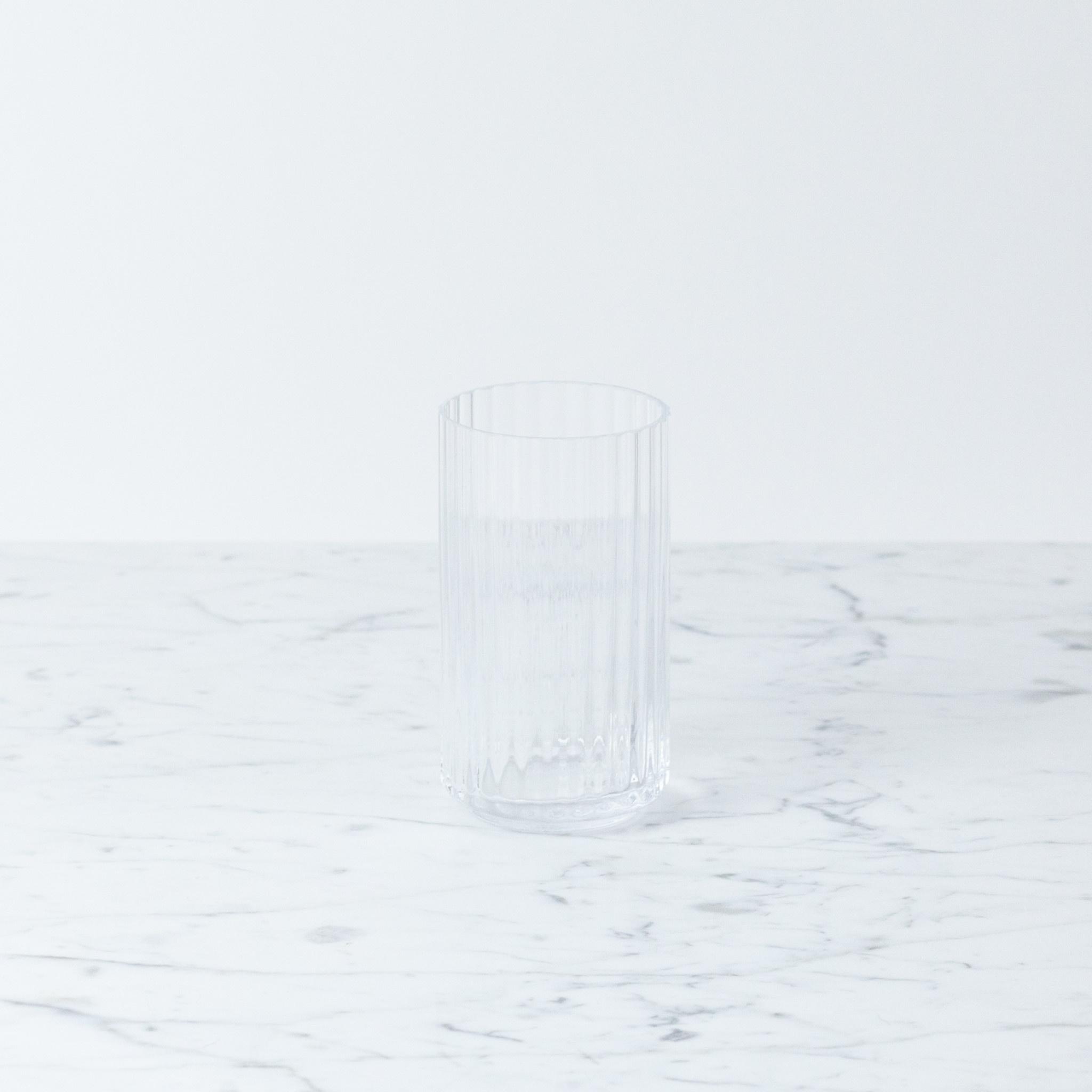 Lyngby Porcelain Lyngby Fluted Vase - 12 cm - Clear Glass
