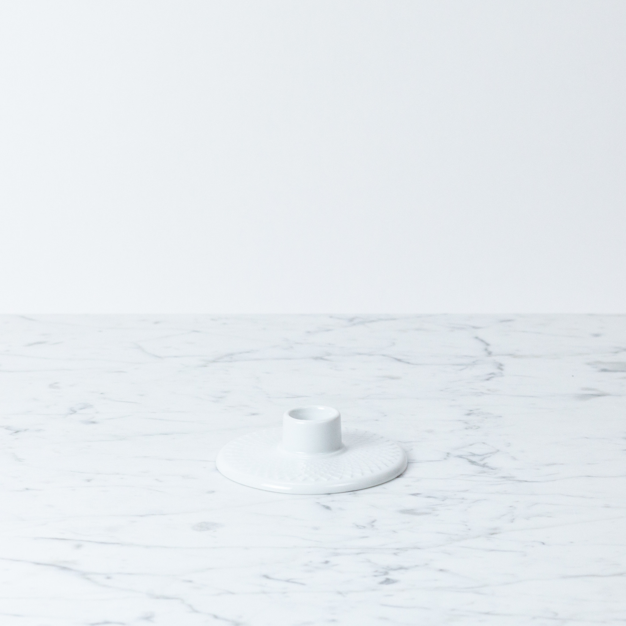 Lyngby Porcelain Lyngby Low Candle Holder - White Porcelain