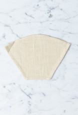 Reusable Hemp Coffee Filter - #2 - Flat Bottom - Small