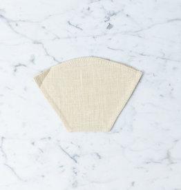 Reusable Hemp Coffee Filter - #2 - Flat Bottom - Small