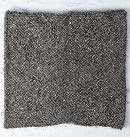 Handwoven Loro Pillow COVER ONLY - Naturally Dyed Wool - Charcoal - 15 x 15""