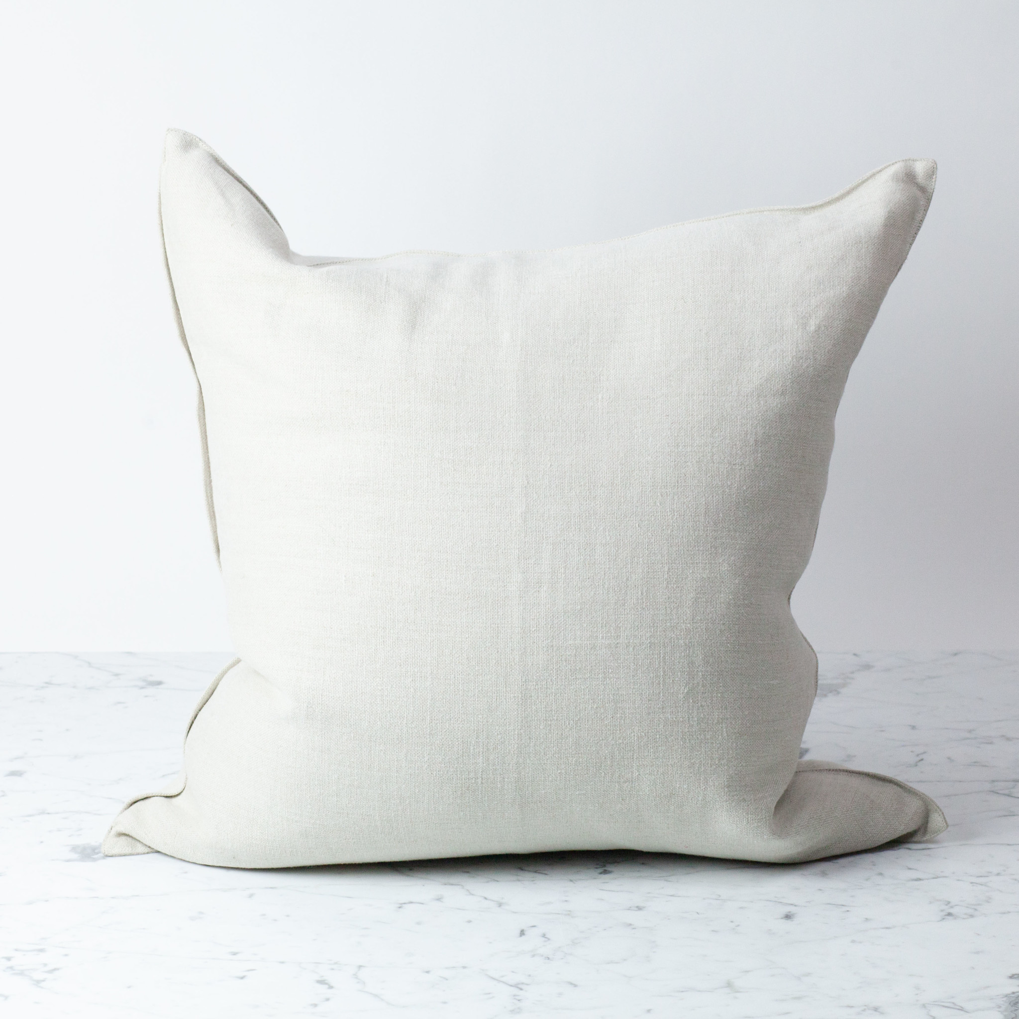 """Libeco Home Belgian Linen Napoli Pillow with Down Insert - Natural - 25 x 25"""""""