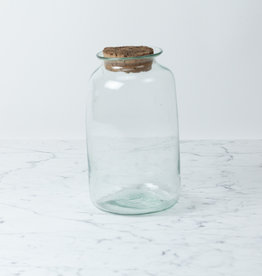 La Soufflerie Hand Blown Pharmacy Storage Jar with Cork Top