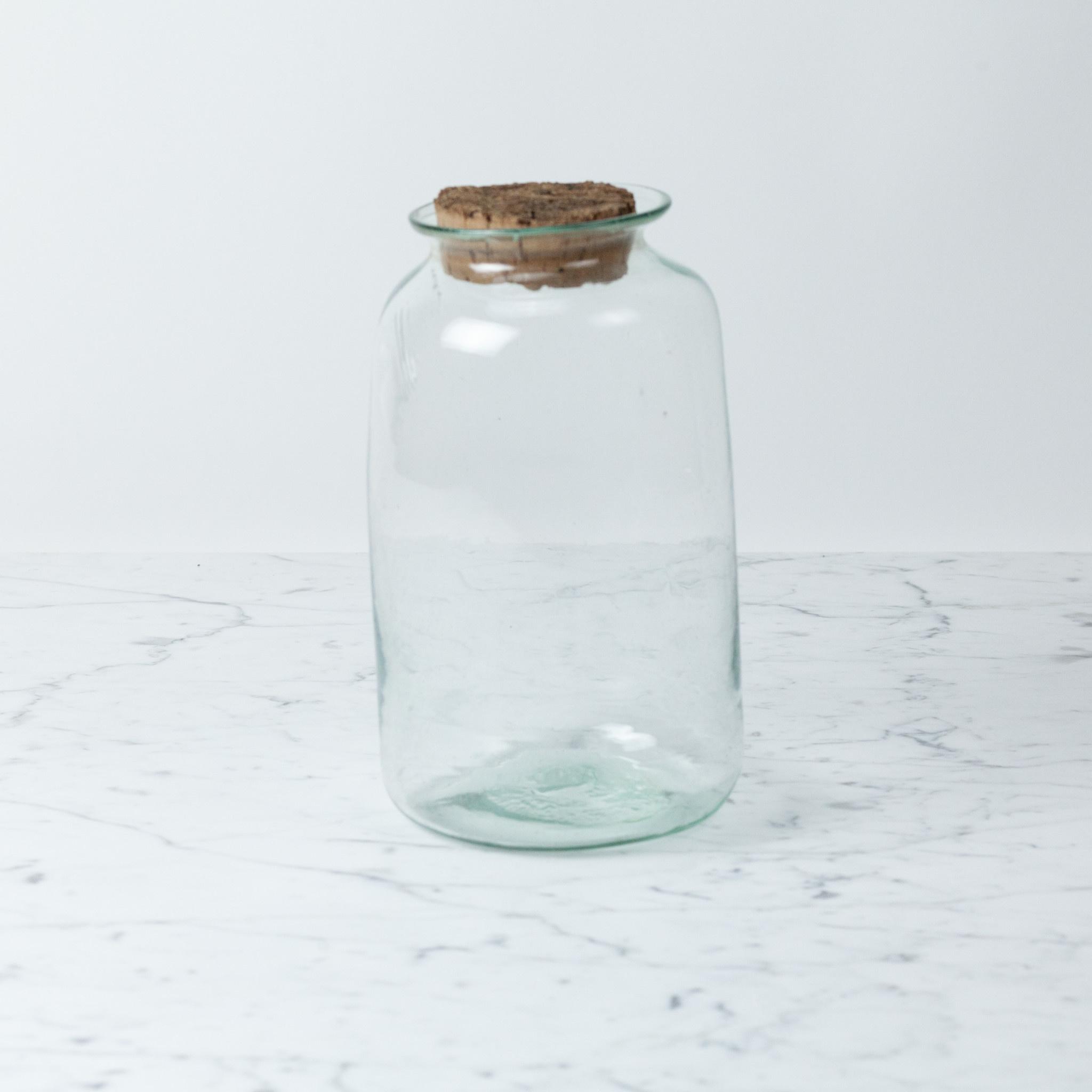 La Soufflerie Hand Blown Pharmacy Storage Jar with Cork Top
