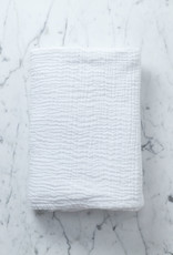 Cats and Boys Gauze Cotton Swaddle - Milk Bright White