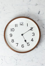 Japanese Clock - Root Round - Brown