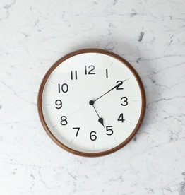 Japanese Clock - Root Round - Brown