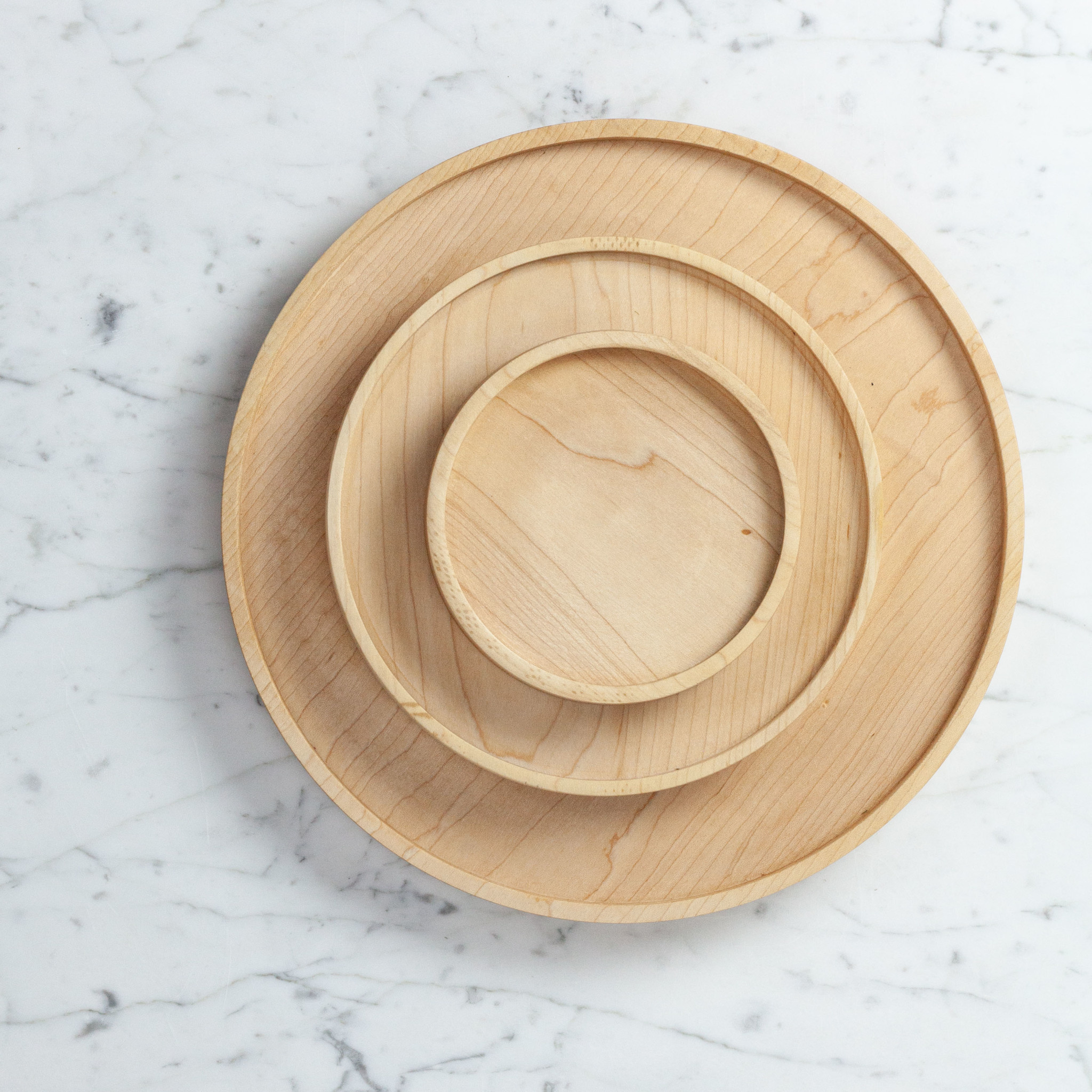 """Elise Mclauchlan Elise Mclauchlan Hand Turned Maple Plate or Tray - Small - 5"""""""
