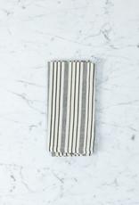 "TENSIRA Handwoven Cotton Napkin - Off White + Black Thick Stripe - 19"""