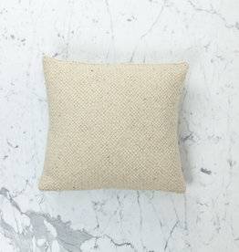 "15"" Handwoven Loro Pillow with Down Insert - Naturally Dyed Wool - Cream"