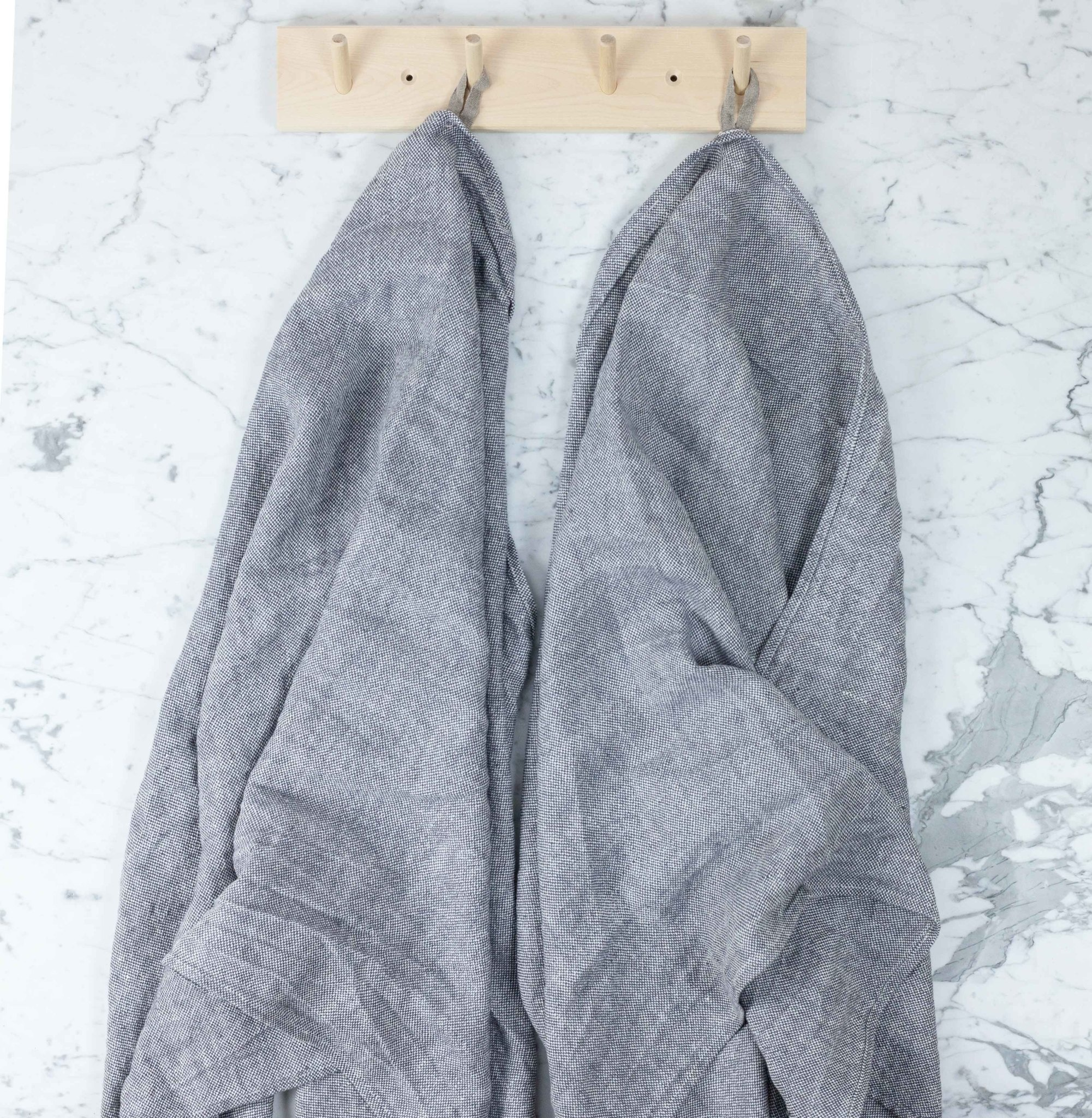 Thick Chambray Towel Grey