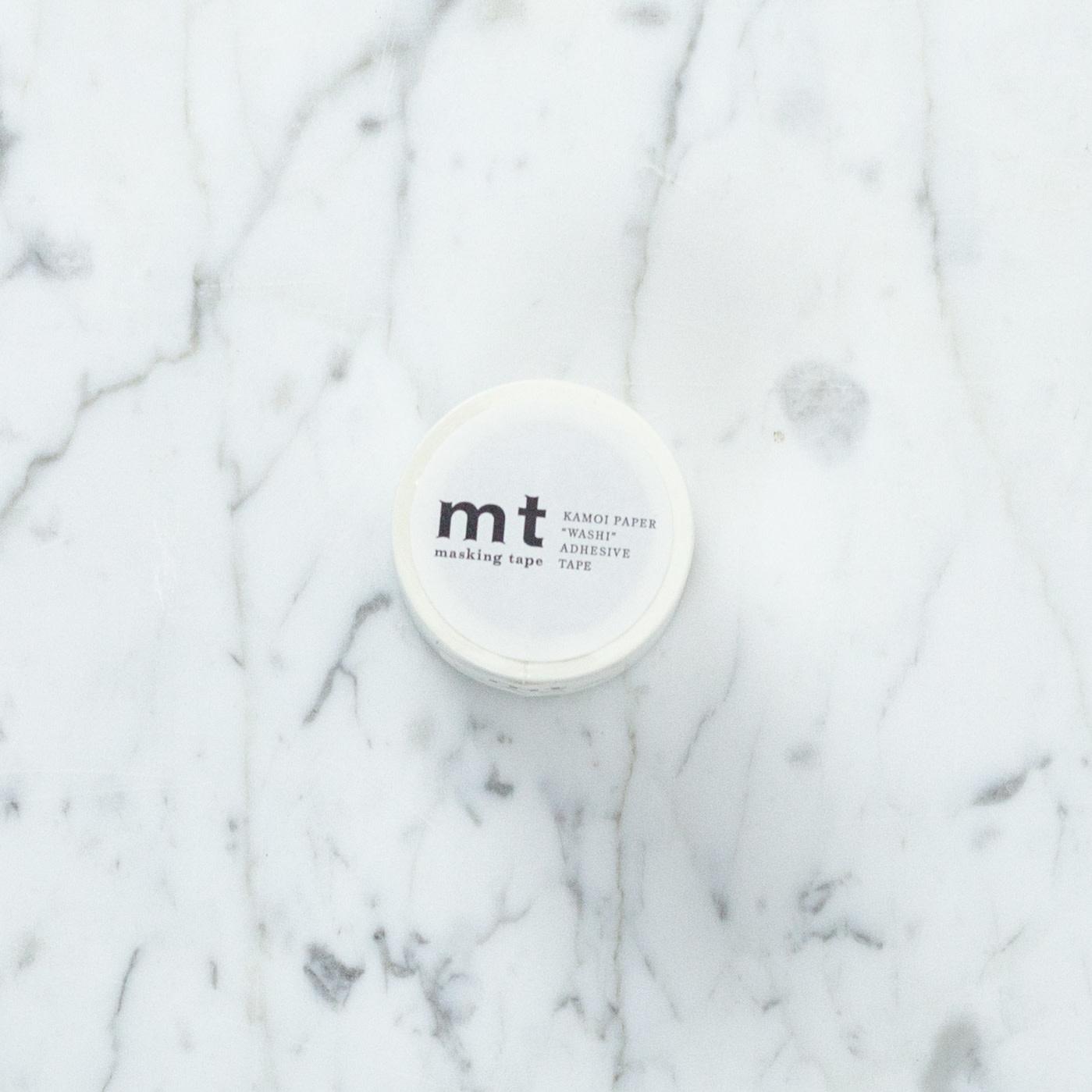 "Wide Washi Tape Single: Matte White - 2"""