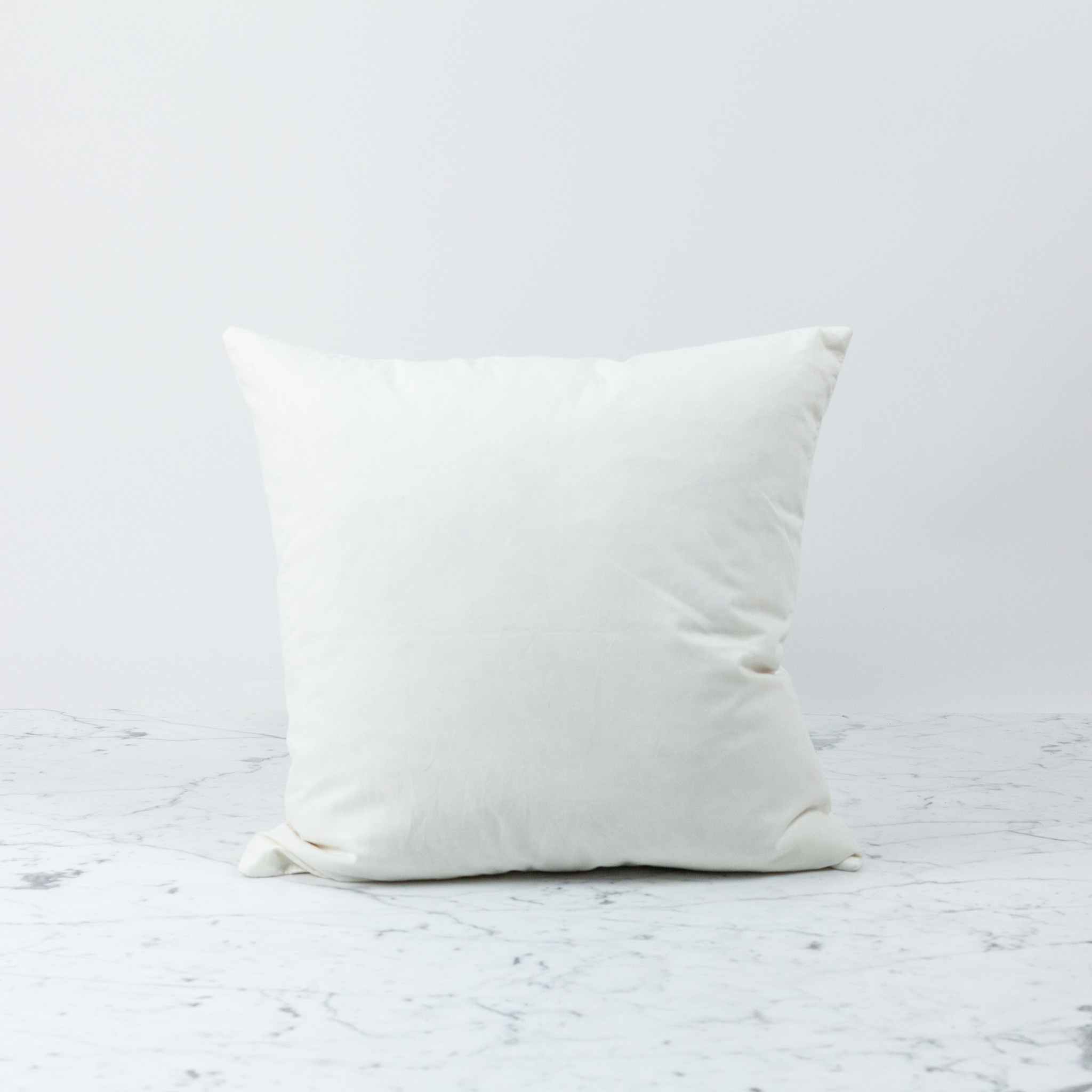 Down + Feather Pillow Insert ONLY - 17 x 17""