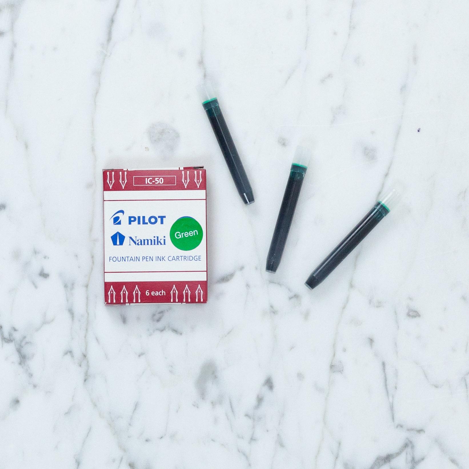 Pilot Namiki Fountain Pen Refill Pack - IC50 Green